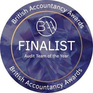 Randall & Payne Audit Team of the Year Finalist badge British Accountancy Awards 2018