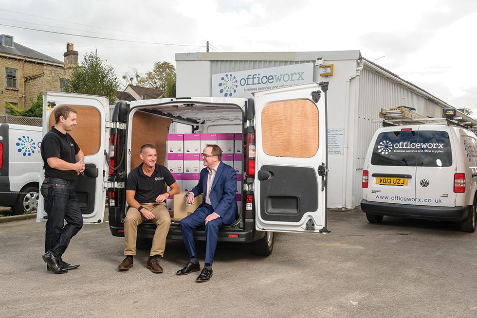 Ollie Newbold with Officeworx, Randall & Payne Corporate Finance, Cheltenham