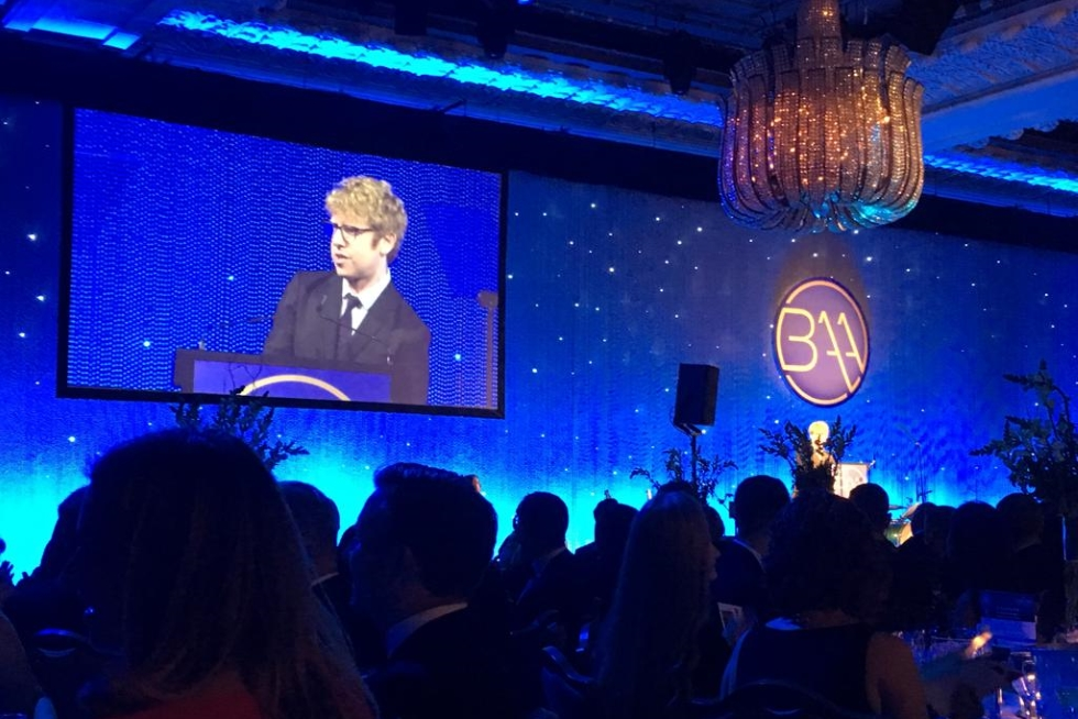 Photo of Josh Widdicombe hosting British Accountancy Awards 2018