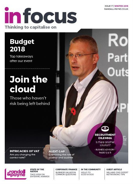 In Focus business magazine Randall & Payne issue 17, accountants Cheltenham