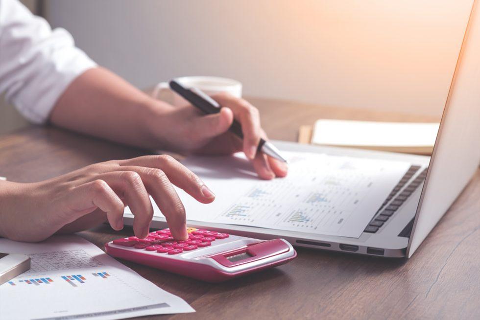 Pink calculator