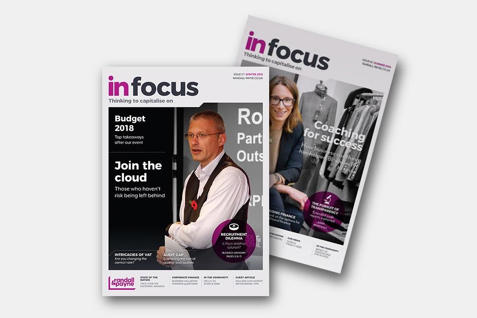 In Focus business magazine Randall & Payne