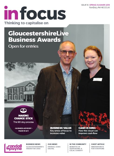 In Focus business magazine Randall & Payne issue 18, accountants Cheltenham