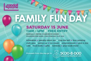 Randall & Payne Charity Family Fun Day poster for Scoo-B-Doo