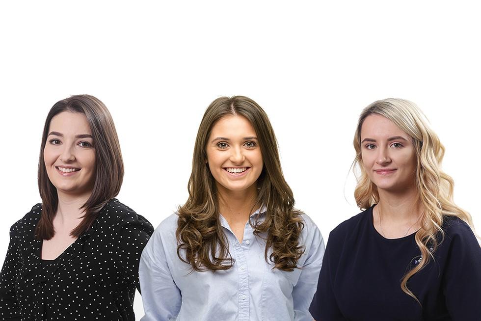 Apprenticeships photo of Rosie Harper, Ffion Williams and Charlie-Anne Yardley