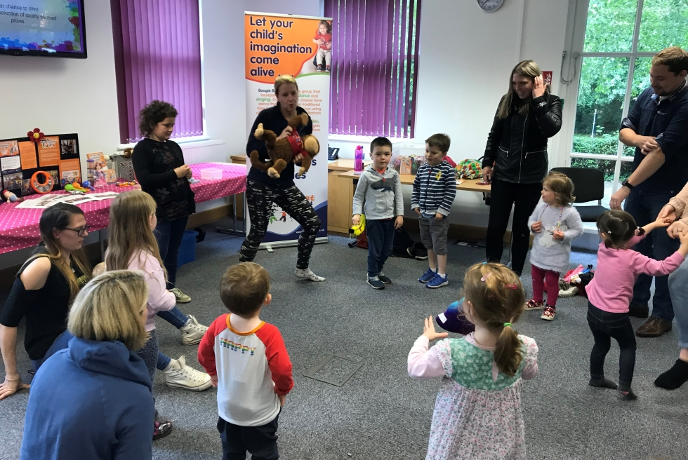 Emma from Boogie Beats taking a session at the Randall & Payne Family Fun Day