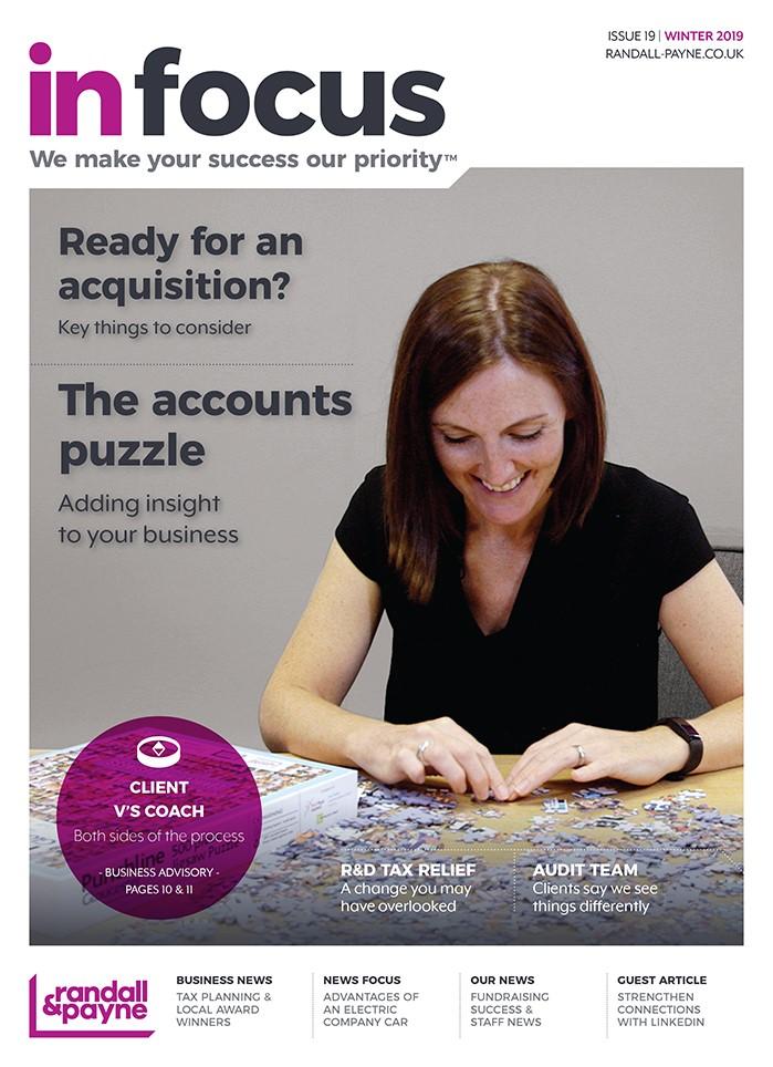 In Focus business magazine Randall & Payne issue 19, accountants Cheltenham