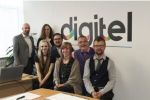 Photo of the team at Digitel